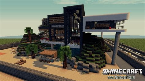 modernes haus minecraft command luxurious modern house 2 map 9minecraft net