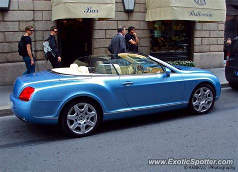 baby blue bentley bentley continental spotted in milan italy on 06 02 2012