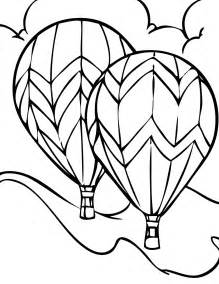free printable air balloon coloring pages for