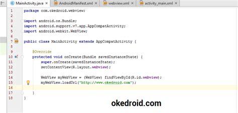 membuat webview dengan android studio belajar cara membuat aplikasi webview di android studio
