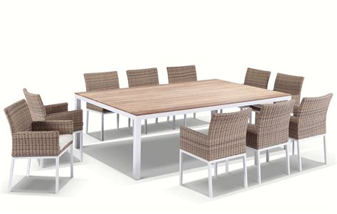 white dining table and chairs ebay white outdoor wicker teak timber 10 seater dining table