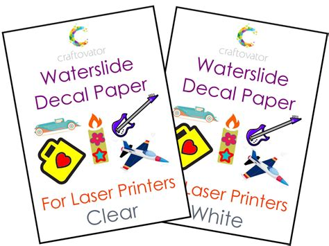 How To Make Waterslide Decal Paper - white waterslide decal paper for laser printers choice of