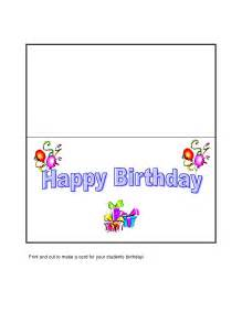 Birthday Template Word by Birthday Card Template Word Besttemplates123