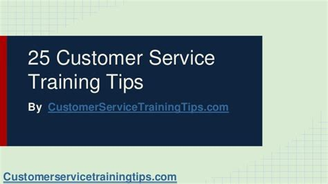 25 customer service training tips