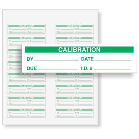 printable calibration stickers calibration labels green on white sku qc 136 wo200