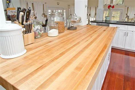 Thick Countertops by Thick Maple Kitchen Island Maryland Wood Countertops
