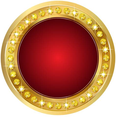 seal gold red png transparent clip art image gallery