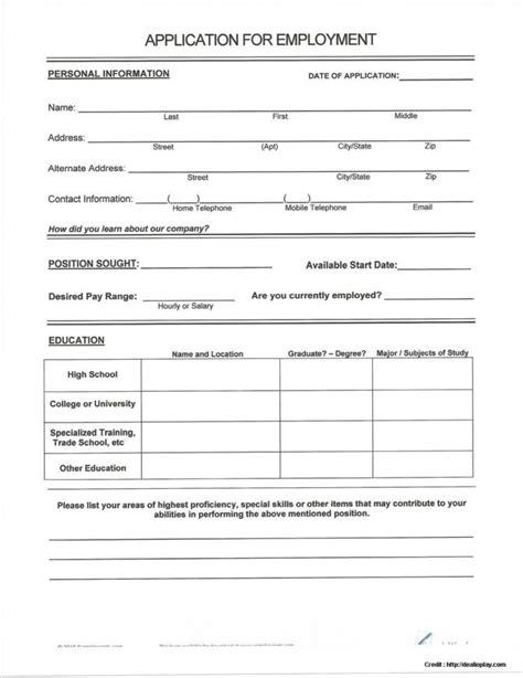 printable job application kmart blank job application forms to print job application