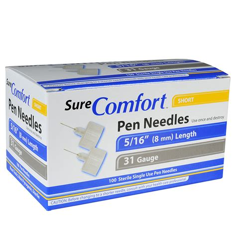 sure comfort pen needles surecomfort mini pen needles 24 1215 needles syringes