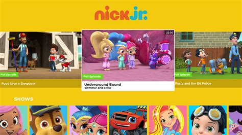 nick jr app for android nick jr for tv appstore for android