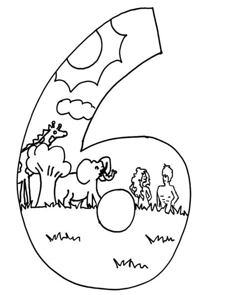 creation day 5 coloring page coloring pages