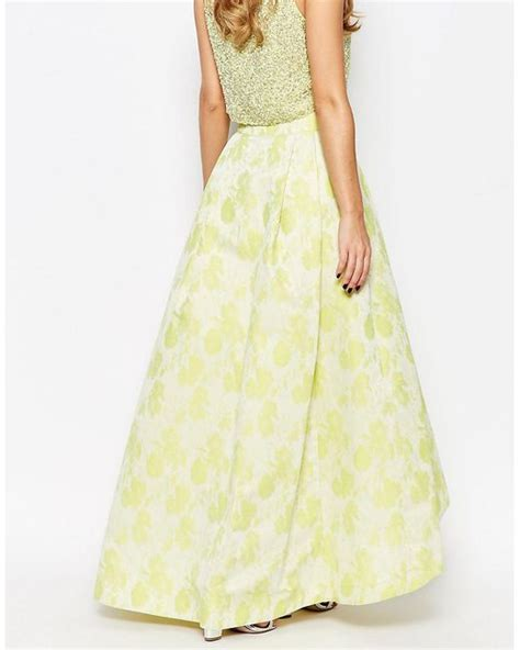 coast rivena maxi skirt in lime lime in green lyst