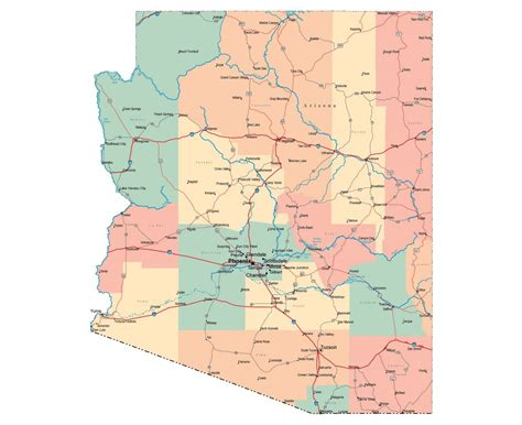 us map with cities arizona maps of arizona state collection of detailed maps of