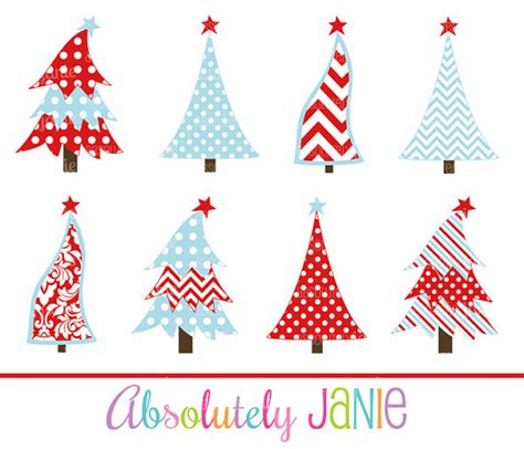 whimsical christmas tree pattern red blue christmas tree clipart whimsical by