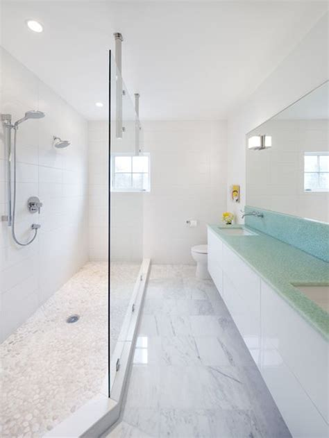 Small Traditional Bathroom Ideas by Long Narrow Bathroom Houzz