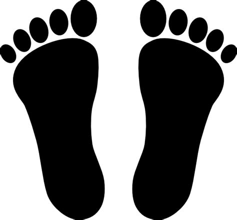 footprints clipart two footprints black clip at clker vector clip