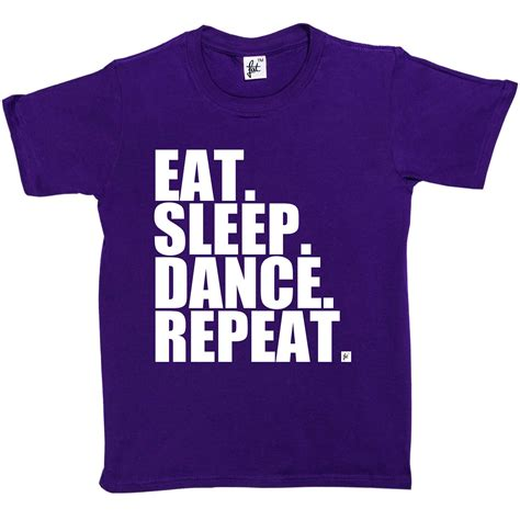 eat drink dance repeat shop and nom at ikea tines eat sleep dance repeat kids boys girls t shirt ebay