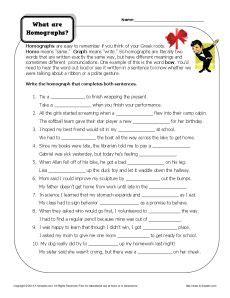 Free Homograph Worksheets by Homograph Worksheets What Are Homographs