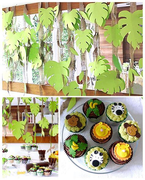 safari theme decorations vanilla jungle cupcakes and cake pops