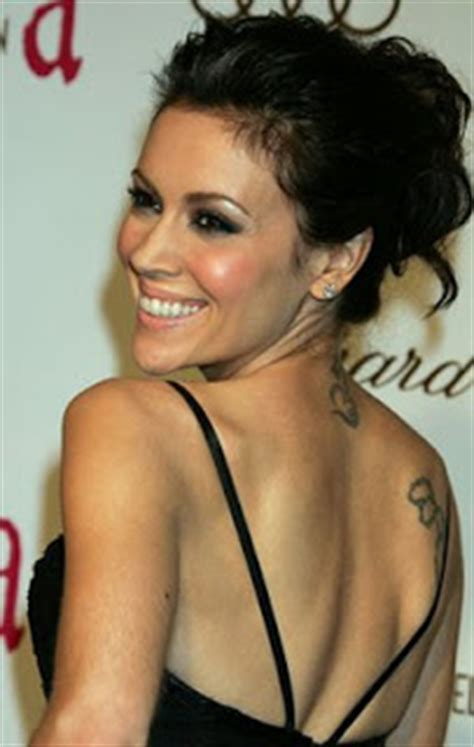 celebrity tattoo picture celebrity alyssa milano tattoo