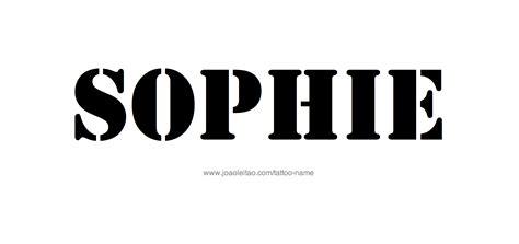 sophie tattoo designs name designs