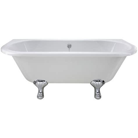 old bathtubs with legs lauren 1700 x 745mm back to wall freestanding acrylic bath
