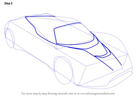 V Drawing Tutorial by Learn How To Draw Venom F5 Sports Cars Step By Step