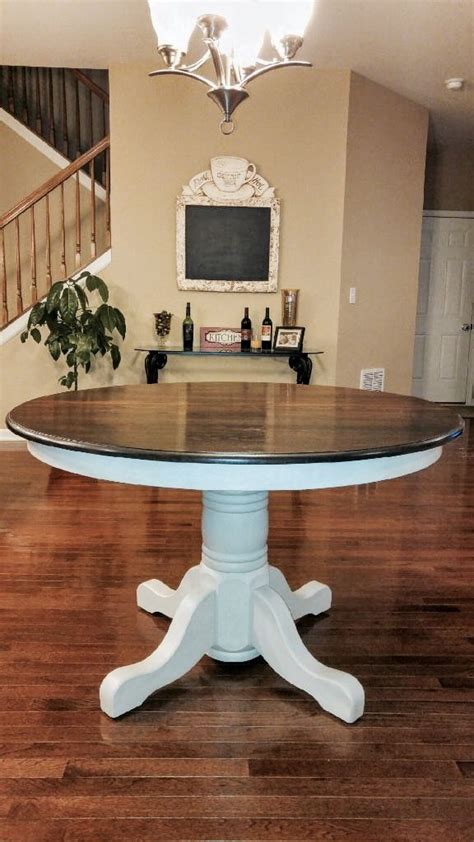 stained table top painted legs 25 best ideas about painted oak table on