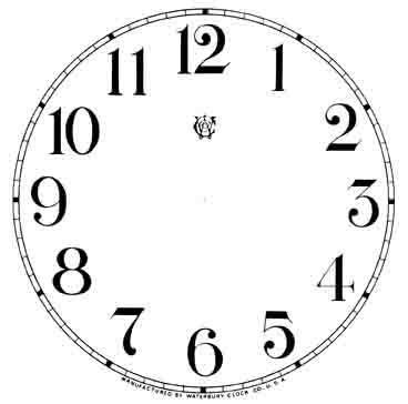 printable paper clock dials 11 quot waterbury arabic dial ivory