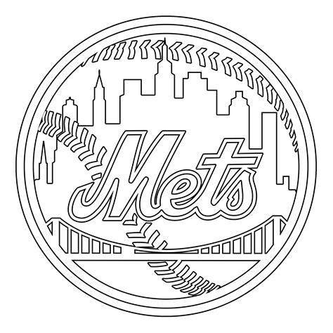 ny mets colors ny mets coloring pages color bros