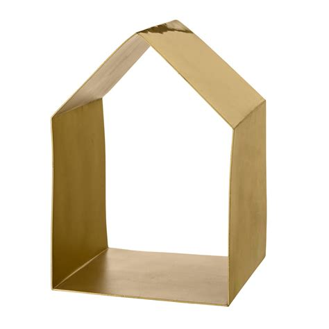 haus regal bloomingville deko regal haus brushed gold kaufen