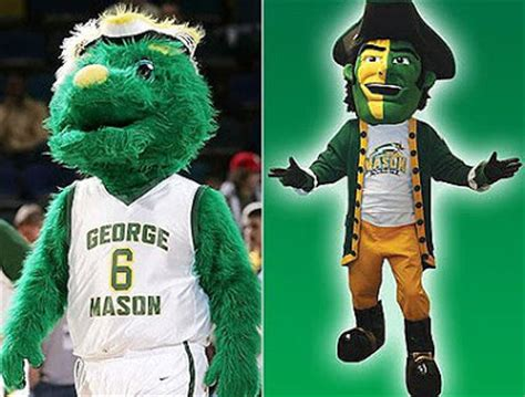 the lawn chair boys: gmu's mascot: gunston out,the patriot in