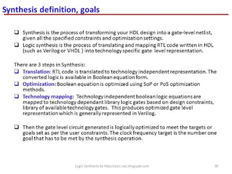 layout definition in vlsi asic system on chip vlsi design asic synthesis synthesis
