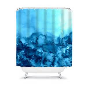 into eternity turquoise painting shower curtain