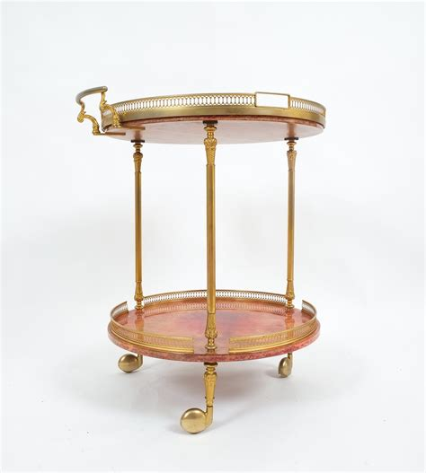 shop side table with removable tray aldo tura bar cart or side table with removable glass tray
