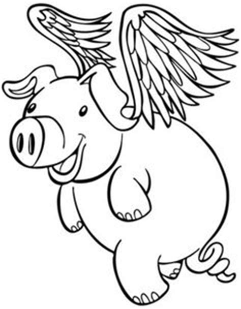 flying pigs coloring page flying pig coloring pages free printable animals