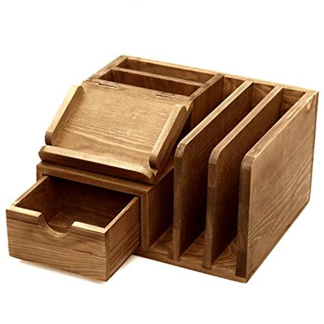 Wood Desk With Storage by Mygift Rustic Wood Desk Accessory Storage Organizer Mail Sorter Post It Note Memo Pad Holder