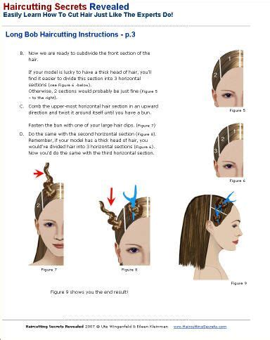 step by step directions for a choppy haircut long bob professional haircutting instructions hair