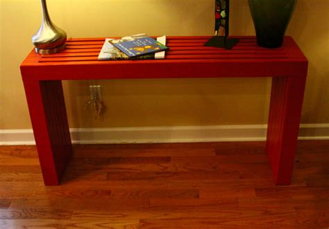 white modern vertical slat top console diy projects