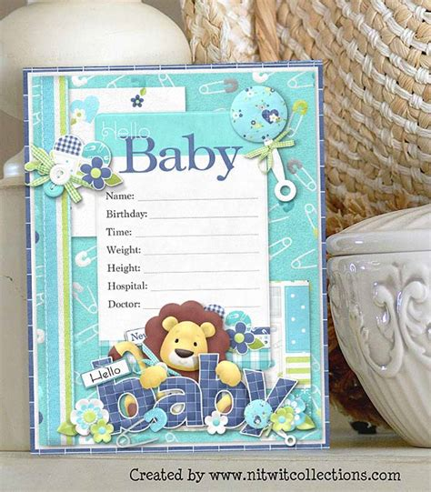 baby boy cards to make a card idea to capture the birth of a baby boy