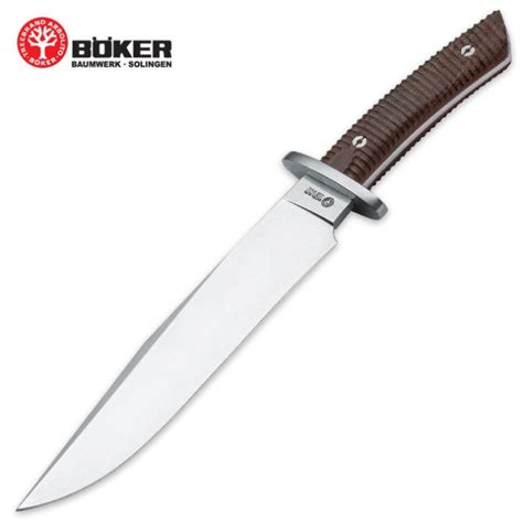 bowie knife with leather sheath boker arbolito el gigante fixed blade bowie knife with
