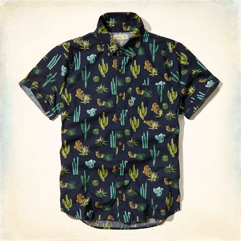Cactus Print Shirt cactus print sleeve shirt from hollister co epic