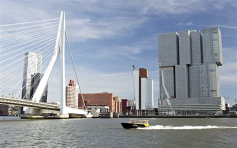 architektur rotterdam erasmus bridge rotterdam majestic road the maas river