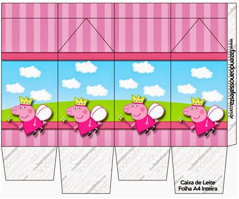 Peppa Pig Fairy Free Printable Boxes Oh My Fiesta In English Peppa Pig Template