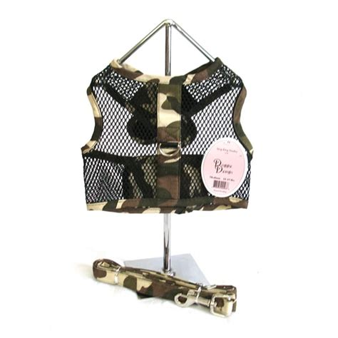 cool leashes camouflage cool mesh harness and leash pet impulse