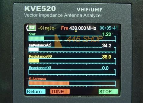 kvea vhfuhf vector impedance antenna analyzer swr radio amateur walkie talkie ham