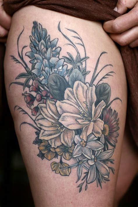 bouquet of flowers tattoo best 25 bouquet ideas on flower
