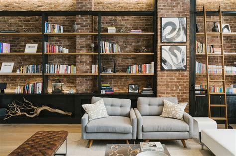 Wohnzimmer New York Style by Greenwich Loft Industrial Wohnzimmer New