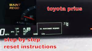 How To Reset Maintenance Light On 2012 Toyota Camry 2012 Toyota Prius Maintenance Required Light Reset