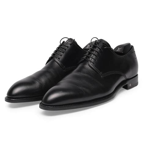 louis vuitton black bespoke lace up dress shoes 187 blue spinach